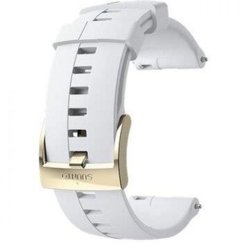 Curea ceas Suunto 24 mm Athletic 4, alb/auriu, M