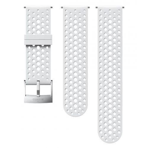 Curea ceas Suunto 24mm Athletic 1, silicon, alb S/M